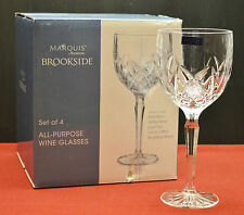 Marquis by Waterford Crystal  NIB Set of 4  Brookside All Purpose Wine Glasses