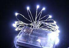 Warm/ White/ Multi Color 8 Ft 20 LED  Micro Silver Wire LED String Fairy Lights