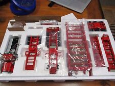 TWH Sword Pete Peterbilt 379 Day Cab w/ 3x3x3 Nelson lowbed lowboy 1/50 RED/RED