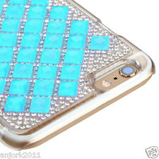 "iPhone 6 Plus (5.5"") Snap Fit Back Cover 3D Bling Gem Case Blue Diamond"