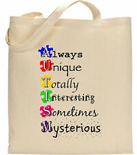 Always Unique Totally Interesting Autism Puzzle Awareness Charity Event Tote Bag