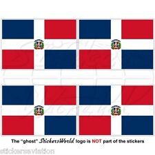 DOMINIKANISCHE REPUBLIK Nationalflagge, Staat-Kriegsflagge Aufkleber 50mm x4