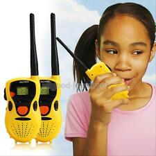 2Pcs LCD Handheld Walkie Talkies for Children Toy Toys Educational Games Yellow