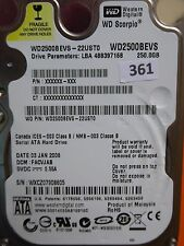 250gb Western Digital WD 2500 BEVS - 22ust0 | facvjab | 03 Jan 2008 #361