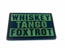 Whiskey Tango Foxtrot WTF Glow In The Dark PVC Airsoft Paintball Patch