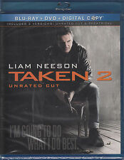 Taken 2 (Blu-ray/DVD, 2013, 2-Disc Set, Unrated/Theatrical) New