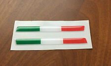 KIT 2 STICKERS ADESIVI 3D BANDIERA ITALIA TRICOLORE FLAG ITALY 10X1 CM  IT-034