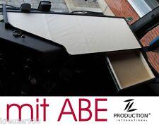 LKW Tisch + ABE passend Mercedes Actros MP4 Ablage Ablagetisch durchgehend beige