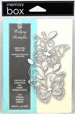 """FREE SHIPPING"" Memory Box WALTZING BUTTERFLIES Die 99082 Card Making Emboss"