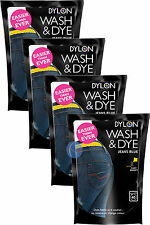 4 x 400g JEANS BLUE DYLON WASH & DYE FABRIC CLOTHES DYE