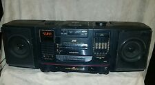 Vintage JVC PC-X200 Boombox Portable Stereo CD Tape TESTED WORKS
