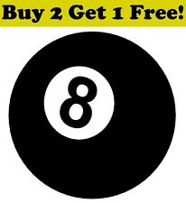 8 Ball Vinyl Decal Sticker Bumper Window Wall Car Eight Ball Billiards Pool