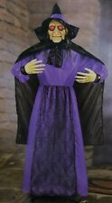 HALLOWEEN LIFE SIZE HAUNTED HOUSE ANIMATED TALKING WICKED WITCH FIGURE PROP 6 FT
