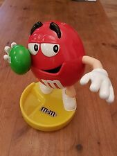 "9"" M&Ms dispenser, released for 2016 olympics, shot put red m&m green shotput"