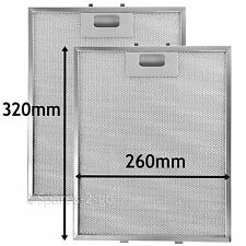 2 Metal Mesh Filters For LAMONA Howdens Cooker Hood Vent 320 x 260 mm