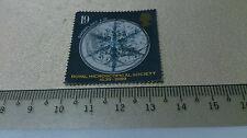 Great Britain 19 pence stamp Royal Microscopical Society 1839-1989 Snowflake art