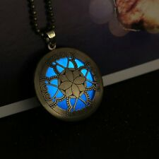 Heart Pendant Luminous Glow In The Dark Locket Hollow Necklace Jewellery Gift
