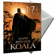 BATMAN - PERSONALISED  Birthday Card Large A5 + Envelope