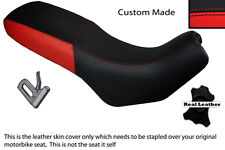 BLACK & RED CUSTOM FITS CAGIVA GRAN CANYON 900 DUAL LEATHER SEAT COVER