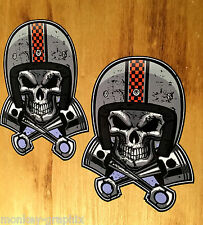2x Speedfreak rythm Sticker Adhesivo estados unidos tuning Racer dragster v8 Skull v2