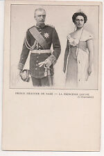 Vintage Postcard King Frederick Augustus III of Saxony & Crown Princess Louise
