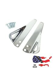 Chrome Teardrop Tie-Down Brackets Harley 1990's to 2013 ROAD KING ELECTRA GLIDE