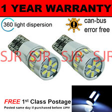 2X W5W T10 501 CANBUS ERROR FREE WHITE 18 SMD LED SIDELIGHT BULBS SL103105