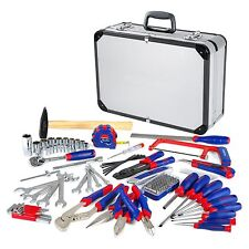 WORKPRO 119PC Tool Set Screwdriver Wrench Home Repair Handtool Kit Aluminum Case