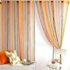 String Line Door Window Sheer Panel Drapes Scarfs Curtain Decorative Divider New