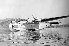 Pan Am Clipper B 314 Airplane Flying Boat Clear Lake 1930s  photo