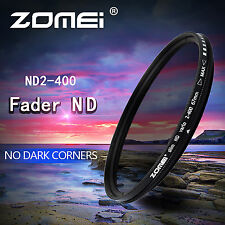 ZOMEI 52mm ND2-400 Fader Adjustable Variable Filter for Canon Nikon Sony Camera
