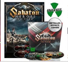 Sabaton Deluxe Heroes On Tour earbook  2dvds 2 blu rays 1cd poster metalic cover