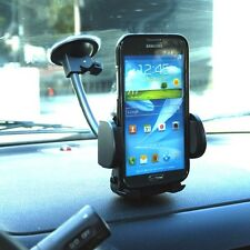 Windshield Cell Car mount holder for Samsung Galaxy S5 S6 S7 Phone GPS gooseneck
