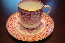 BROWN-WESTHEAD, MOORE, Staffordshire, England cup and saucer dated 4/28/1981