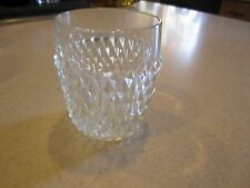 "VINTAGE INDIANA CLEAR GLASS DIAMOND POINT 3 5/8"" OLD FASHIONED TUMBLER"