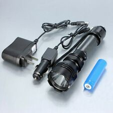 US LED Flashlight Torch Lamp Charger 500 lumen k8+18650 battery+Car Charger
