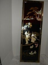 VINTAGE COLLECTIBLE ORIENTAL CULTURAL ART FRAMED WALL HANGING PICTURES