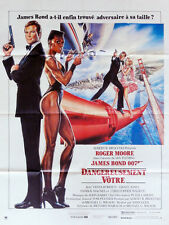 Affiche 40x60cm DANGEREUSEMENT VOTRE /A VIEW TO A KILL 1985 - 007 James Bond TBE