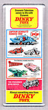 DINKY TOYS advertisment  WIDE FRIDGE MAGNET - Captain Scarlet -Thunderbirds