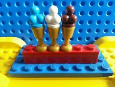 LEGO Minifig Ice Cream Cone x3 Gelato Icecream Scoops Food City Creator Friends