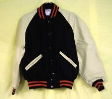 DeLong Letter Jacket, Wool Body With Leather Sleeves, Size 42