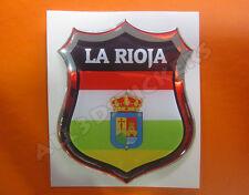Pegatina Emblema 3D Relieve Bandera La Rioja - Todas las Banderas del MUNDO