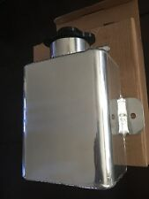 UNIVERSAL FABRICATED ALUMINUM COOLANT EXPANSION/CATCH TANK w/BILLET CAP