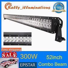 52inch 300w Spot Flood Combo LED Work Light Lamp Bar Offroad SUV Car Boat US 50""
