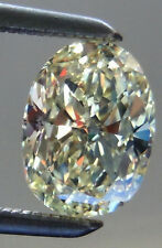 4.31 ct vvs1/OFF WHITE YELLOW COLOR LOOSE OVAL CUT REAL MOISSANITE RING-PENDANT