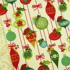 Tole Christmas ~ Ornaments Cream Fabric / quilting stocking tree decorations