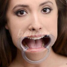 New transparent Open Mouth Plug Couples Game Restraint Bondage Mouth Gag Gift