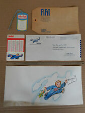 PICCOLO LOTTO OLIO FIAT PROMO VINTAGE MATERIALE ORIGINALE DELL'EPOCA 500 600 ETC
