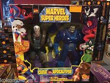 "1997 ToyBiz Marvel Super Heroes 10"" Inch Figure Doll MIB - CABLE & APOCALYPSE"