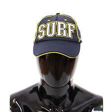 NWT $180 DOLCE & GABBANA Blue Cotton Surf Logo Baseball Cap Hat Cappuccio s.57/S